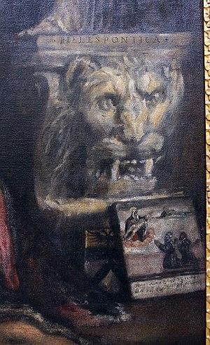 Pietà (Titian) - The bottom right-hand corner