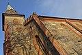 Tjøme kirke Church nygotisk langkirke 1866 Architect Anders Thorød Tower tårn Shadow skygge Winter afternoon light Færder Municipality, Norway 2020-01-15 1868.jpg