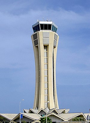 Málaga Airport - Control Tower at Málaga Airport, built in 2002