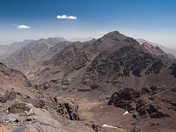 Toubkal from Afella peak
