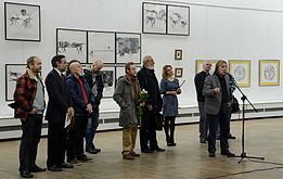 Tour de Minsk - Exhibition of drawings in Palace of Art, Minsk 23.10.2014 03.JPG