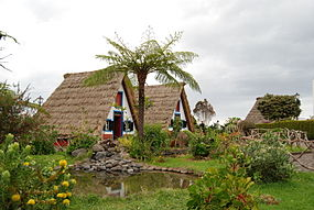 Traditional thatched houses (palheiros), Santana, Madeira, Portugal.jpg