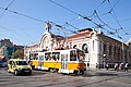 Trams in Sofia in front of Central Market Hall 2012 PD 027.jpg