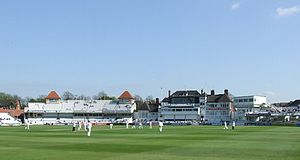 Trent Bridge - The pavilion during a County Championship match in 2007.