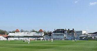 Harold Larwood - Trent Bridge cricket ground (2007 photograph). The main pavilion appears much as it did in Larwood's day.
