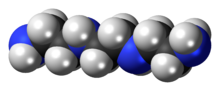 Spacefill model of triethylenetetramine