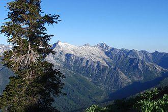 Trinity River (California) - Trinity Alps west of Trinity Lake