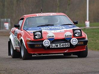 Simo Lampinen - Lampinen's Triumph TR7 of the 1978 RAC Rally driven at the Race Retro 2008.