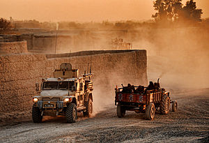 Route Trident - ISAF and Afghan civilian vehicles on Route Trident