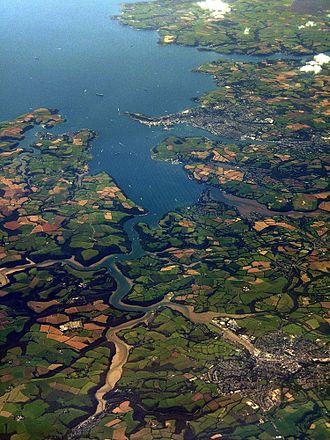 Carrick Roads - Image: Truro Falmouth Aerial