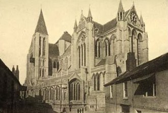 Truro - The Cathedral in 1905, before completion of the spires