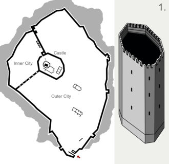 Tsepina - Tsepina Fortress - plan.