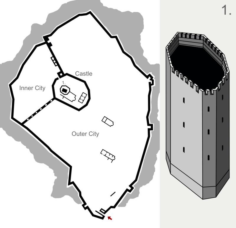 Tsepina Fortress - plan