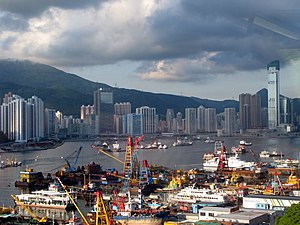 World's busiest port - Tsuen Wan port of Hong Kong