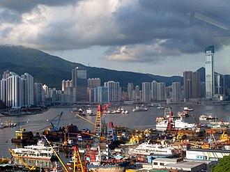 World's busiest port - Tsuen Wan port of Hong Kong