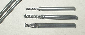 Carbide - Tungsten carbide end mills.