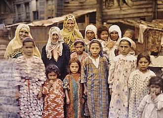 Armenians in Turkey - Armenian women and children in Constantinople (1912)