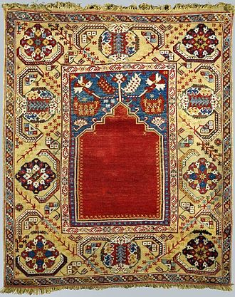 Prayer rug - 18th-century Turkish prayer rug with a niche representing the mihrab, National Museum in Warsaw