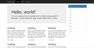 Bootstrap (front-end framework) - Image: Twitter Bootstrap Under Firefox 32