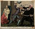 Two doctors quarreling whilst their patient deteriorates. Co Wellcome V0011049.jpg