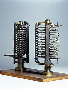 Two experimental models for Babbages Analytical Engine, c 1870. (9663806882).jpg
