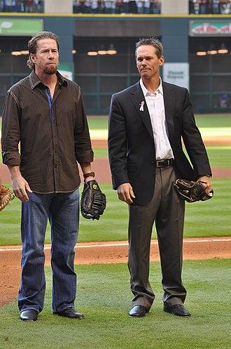 2007 Houston Astros season - Jeff Bagwell (left) and Craig Biggio (right)
