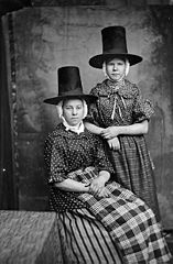 Two women in national dress (Jenkins and Edwards)