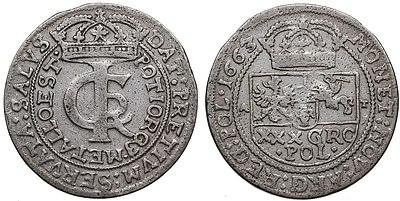 Монета злотівка (тинф, тимф). Білон
