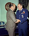 U.S. Air Force Chief of Staff General John D. Ryan with U.S. Secretary of Defense Melvin Laird.jpg