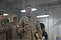 U.S. Marine Corps Col. Frank Donovan, the commanding officer of the 24th Marine Expeditionary Unit, addresses his staff during the African Lion 2012 confirmation brief aboard the amphibious assault ship USS Iwo 120405-M-TK324-034.jpg