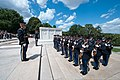 U.S. Soldiers assigned to the 3rd U.S. Infantry Regiment (The Old Guard) participate in a wreath-laying ceremony at the Tomb of the Unknowns at Arlington National Cemetery in Arlington, Va., June 14, 2013 130614-A-AO884-048.jpg