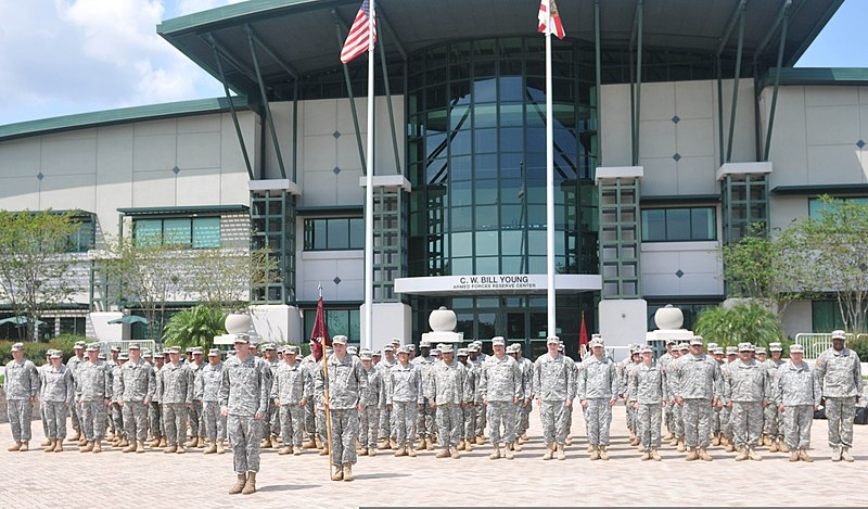 File:U.S. Soldiers with the Army Reserve Medical Command stand in formation at the C.W. Bill Young Armed Forces Reserve Center in Pinellas Park, Fla., to send birthday greetings to the U.S. Army June 10, 2012 120610-A-HZ691-590.jpg