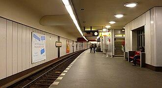 Bismarckstraße (Berlin U-Bahn) - Lower U7 platform