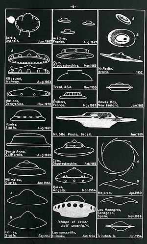 Reported UFO sightings in the United Kingdom - Worldwide sightings of unidentified craft, including some from the UK (from the UK National Archives)