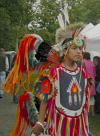 Pow wow - Fancy dancer, Seattle, WA 2007