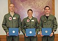 USAF Female F-16 Pilot 2nd Lt. Zoe M. Kotnik hold her academic achievement award presented 2013 Jan.11.jpg