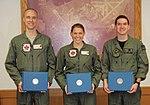USAF Female F-16 Pilot 2nd Lt. Zoe M. Kotnik hold her academic achievement award presented 2013 Jan.11.jpg