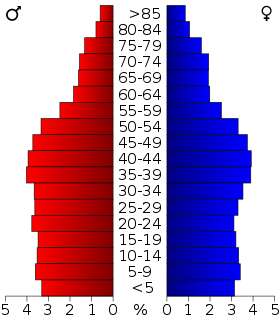USA Hawaii age pyramid.svg