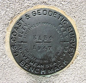 Benchmark (surveying) - Image: USCGS E134