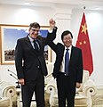 USDA Trade Counsel Jason Hafemeister with Wu Qinghai, vice minister of China's General Administration of Quality Supervision, Inspection, and Quarantine (25136255147).jpg