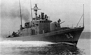 USS Asheville (PG-84) underway in 1966