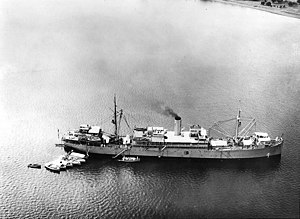USS Black Hawk (AD-9) - USS Black Hawk (AD-9) Anchored in Philippine waters, 19 December 1935. She serviced Destroyer Squadron Five