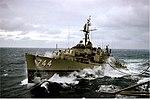 USS Blue (DD-744) refueling in heavy seas 1962.jpg