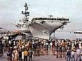 USS Coral Sea (CVA-43) at Naval Sir Station Alameda, California (USA), on 12 November 1971.jpg