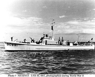 SC-497-class submarine chaser - Image: USS SC 661