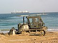 US Navy 030227-N-1050K-143 Seabee's prepare beach for amphibious landing craft.jpg