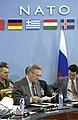 US Navy 031201-F-2828D-453 Secretary of Defense Donald H. Rumsfeld prepares for a NATO.jpg