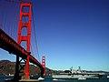 US Navy 041009-N-4704P-008 The amphibious assault ship USS Tarawa (LHA 1) sails under the Golden Gate Bridge.jpg