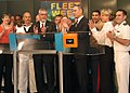 US Navy 050527-N-2114S-002 Col. Tom Tyrrell (retired), now Executive Director and CEO of the Intrepid SEA, AIR ^ Space Museum, rings the opening bell at the NASDAQ stock exchange in New York City on May 27, 2005.jpg
