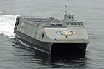 US Navy 050801-N-7676W-080 The Littoral Surface Craft-Experimental LSC(X), developed by the Office of Naval Research and christened Sea Fighter (FSF 1), arrives at her new homeport of San Diego Calif.jpg